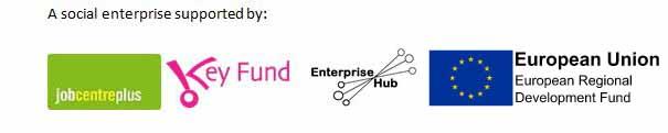 ERDF Logo, Enterprise Hub Merseyside logo